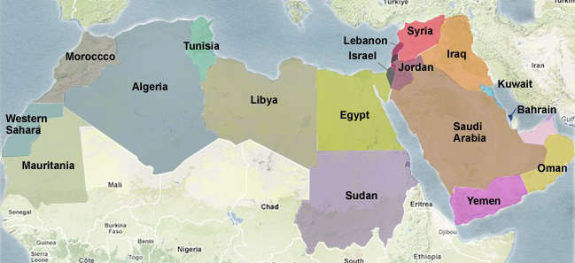 MA Y Magazine – Map of the Arab Spring